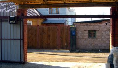 1 подвесные откатные ворота