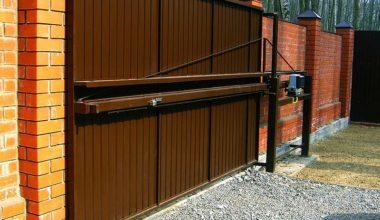 2 консольные откатные ворота