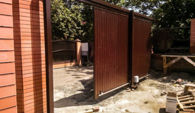 2 подвесные откатные ворота